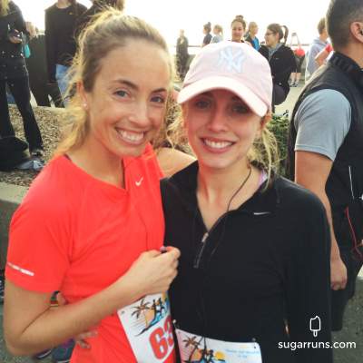 Seaside Half with my younger sister, Katelyn.