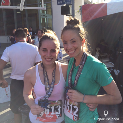 Katelyn ran her first half marathon and kicked some serious butt!