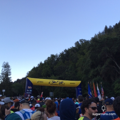 Heading to the starting line