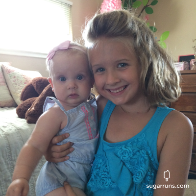 Grace and her little sister Lily