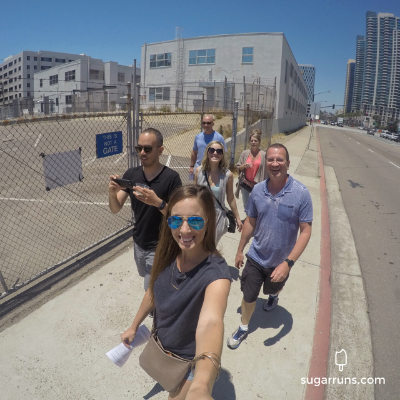 The Crew walking to the expo!