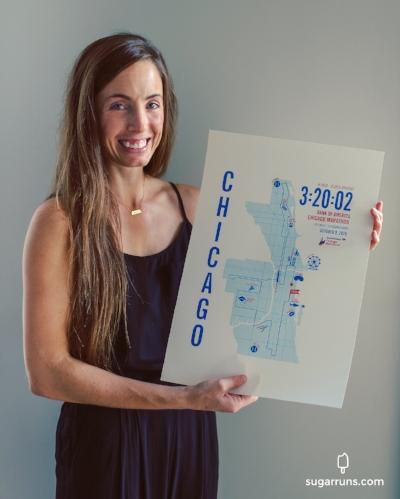 Run Ink Special Chicago Marathon Map