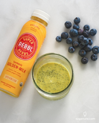 Golden milk chia seed pudding