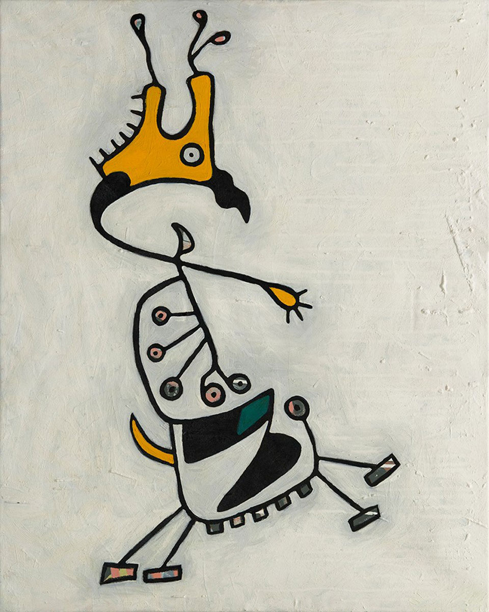 "Bull Bird  Oil on canvas  24"" x 30""   $300"