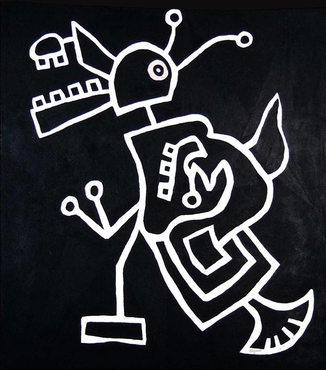 "Lili Beast  Acrylic on canvas  33"" x 38""   SOLD"