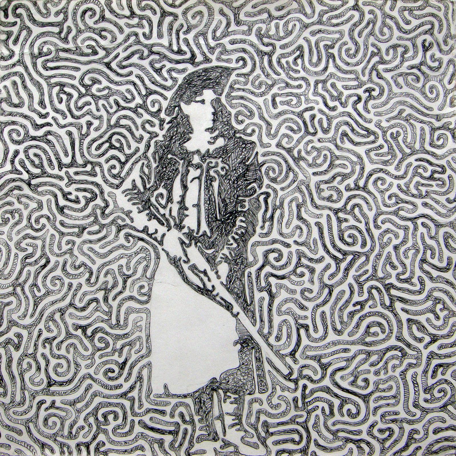 "Annie  Pencil on paper  11"" x 11""   $125"