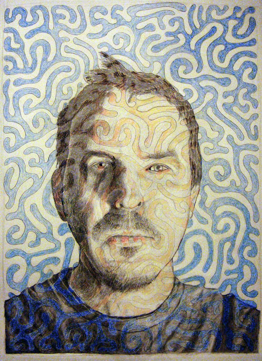 """Self-Portrait  Pencil on paper  15"""" x 20""""   NFS"""