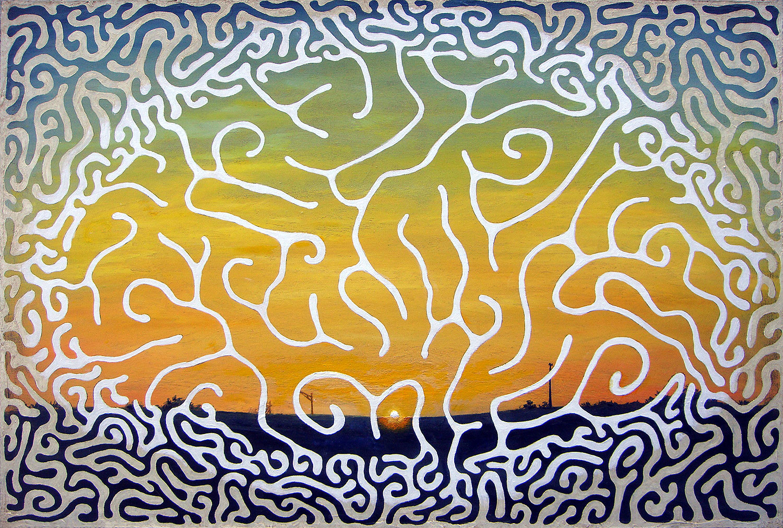"Temple  Oil on canvas  24"" x 36""   $450"