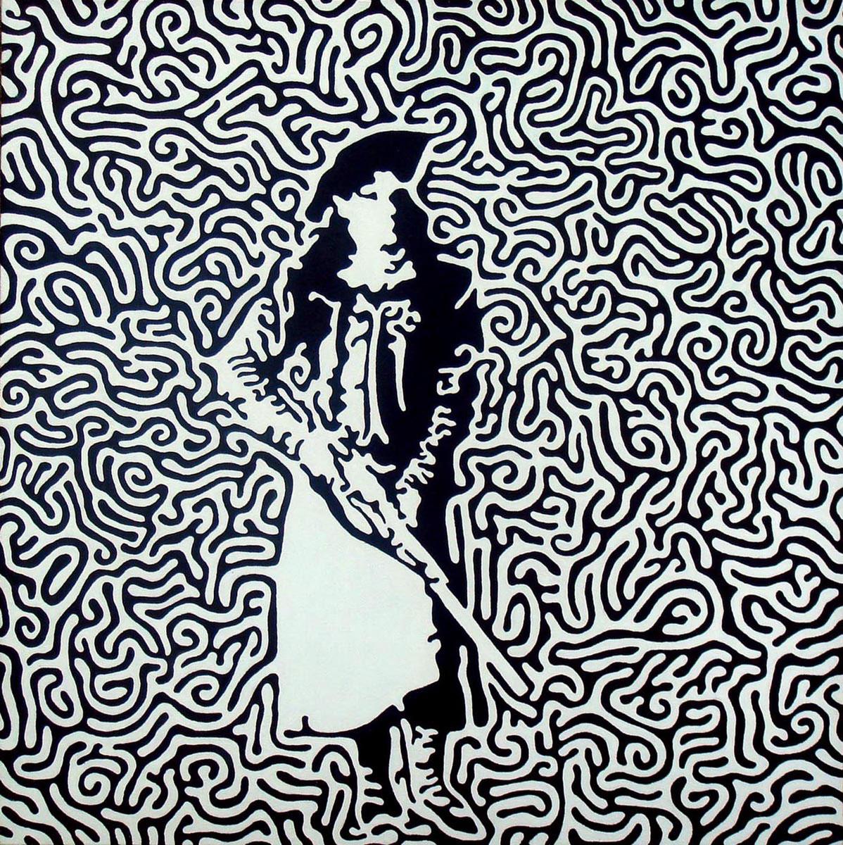 """Annie  Acrylic on canvas  22"""" x 22""""   NFS"""