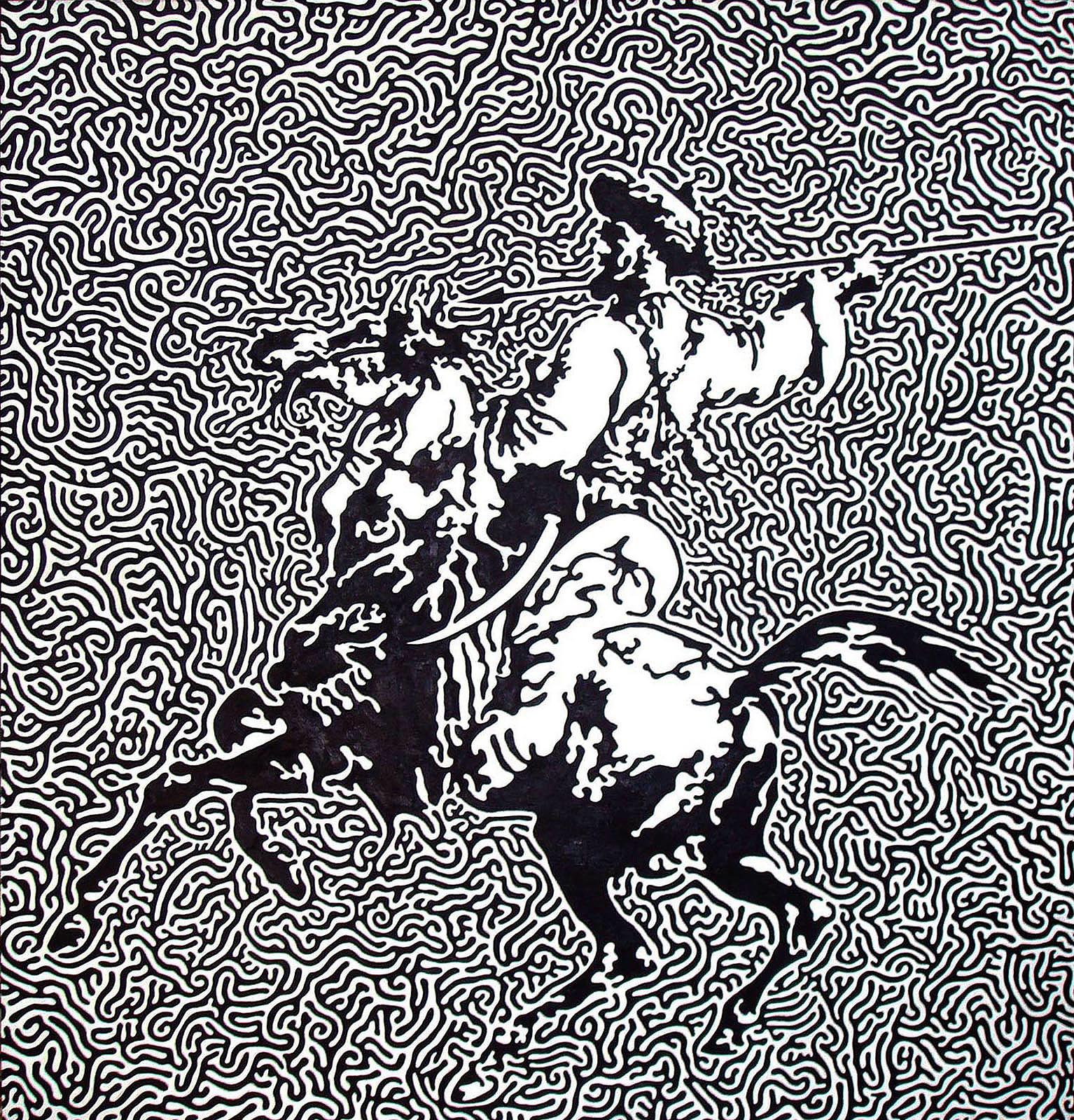 """Mamluk  Oil on canvas  54"""" x 54""""   NFS"""