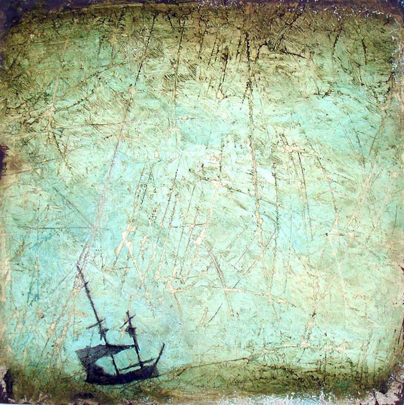 """Adrift  Oil on wood  12"""" x 12""""   SOLD"""
