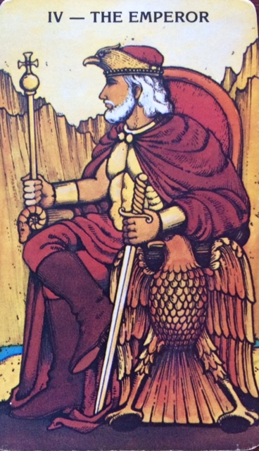 The Emperor is the Aries Card in The Tarot.