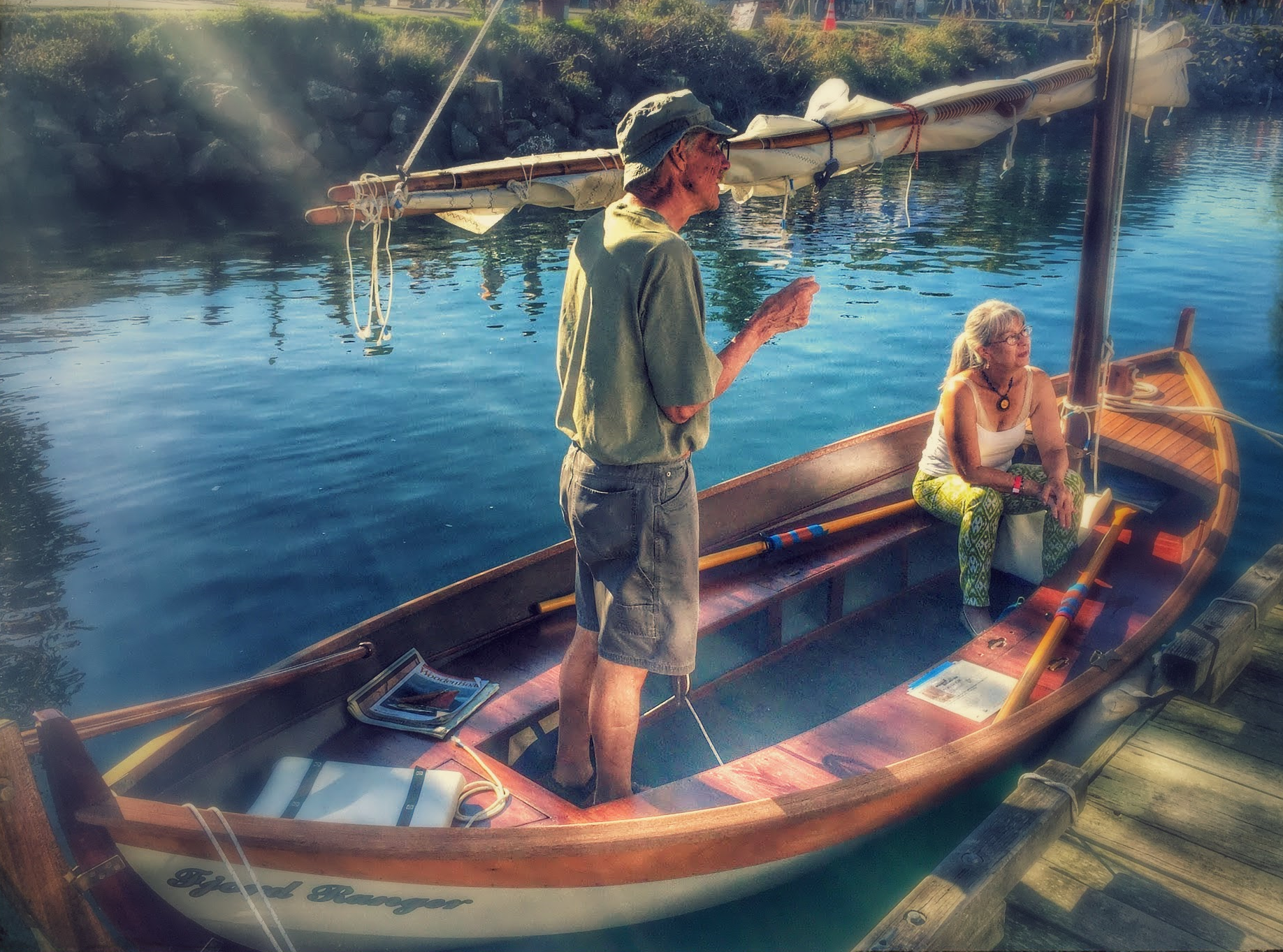 Suzanne & David on the Fjord Ranger - Port Townsend Wooden Boat Show 2015