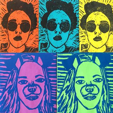 SnapChat Printmaking Portraits