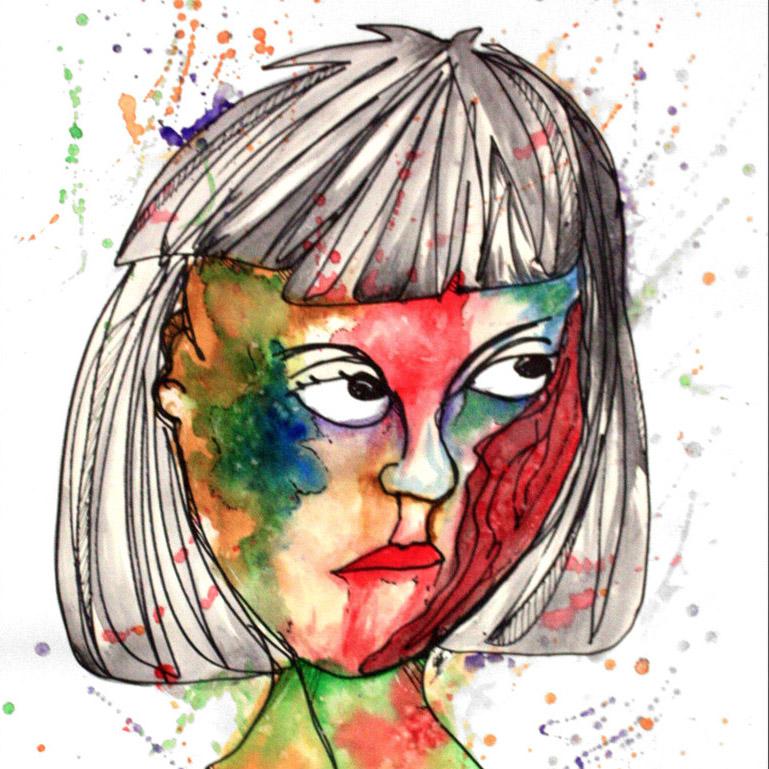 Zombie Contour Line Drawings