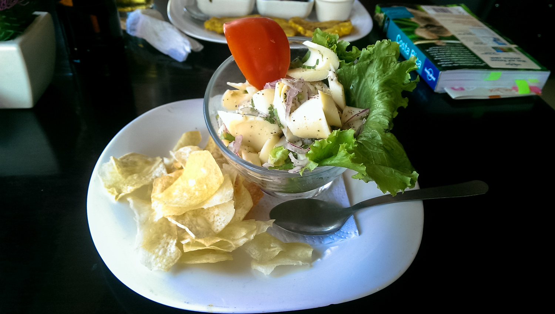 Vegetarian ceviche in san jose, costa rica