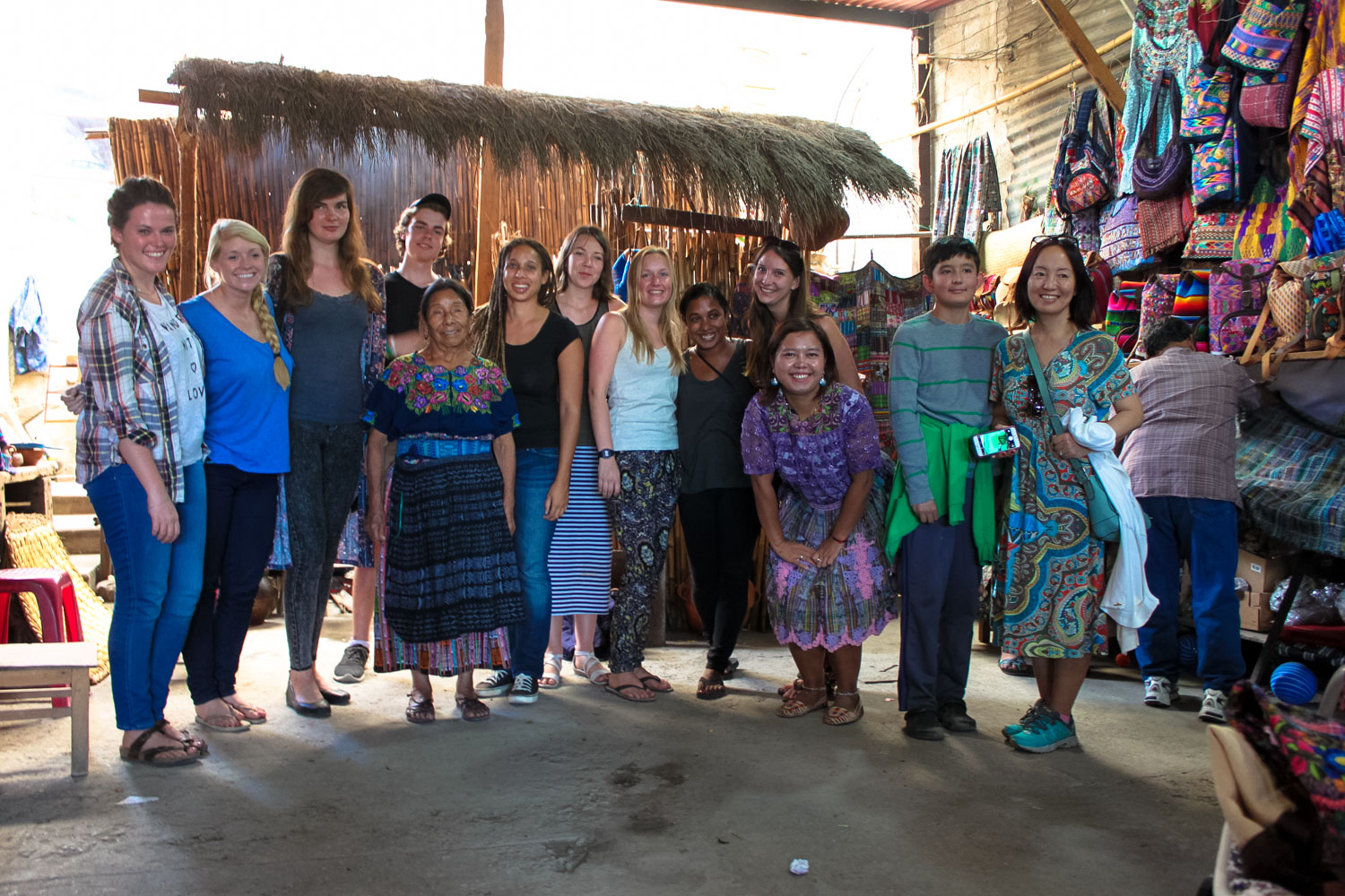 Group excursion to a small weaving community, Antigua, Guatemala