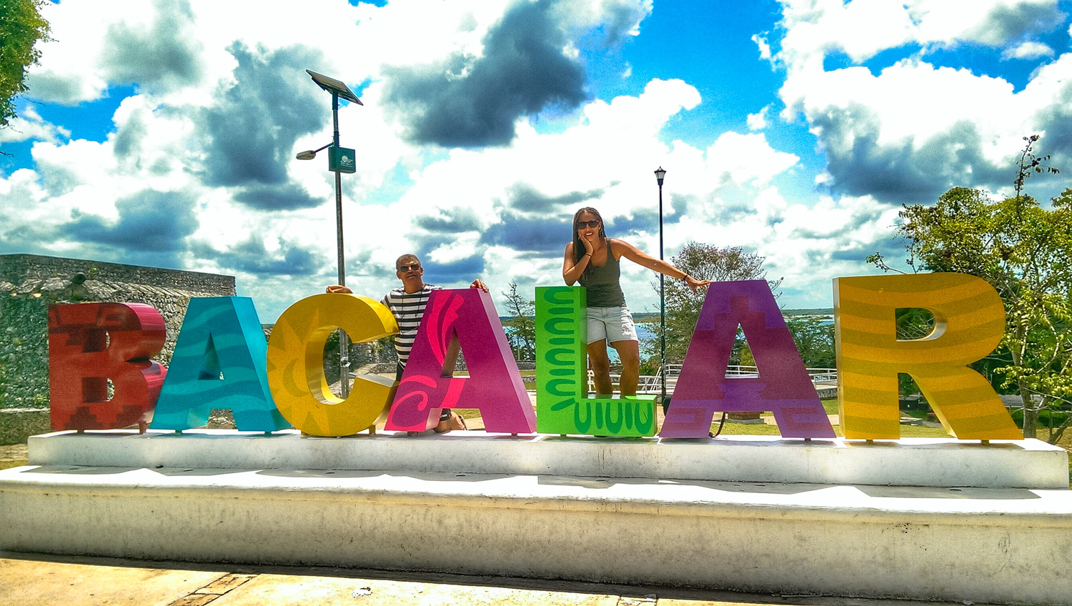 Fun with dad and the Bacalar sign