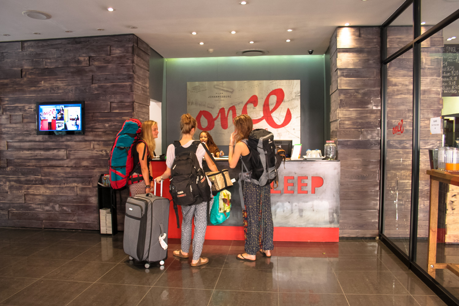 Review: Once in Joburg - Check in and Reception