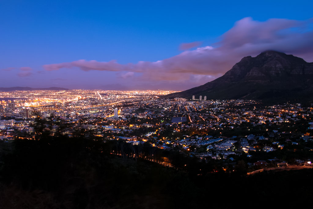 Cape Town at night from Lion's Head