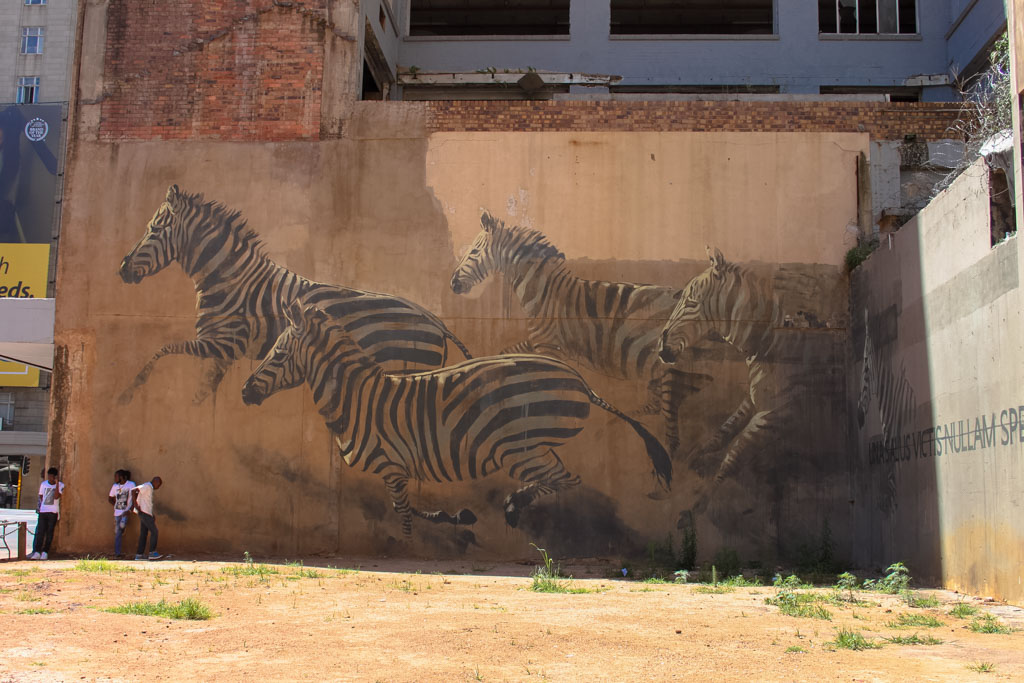 Holiday Destinations in South Africa - Mural in Johannesberg
