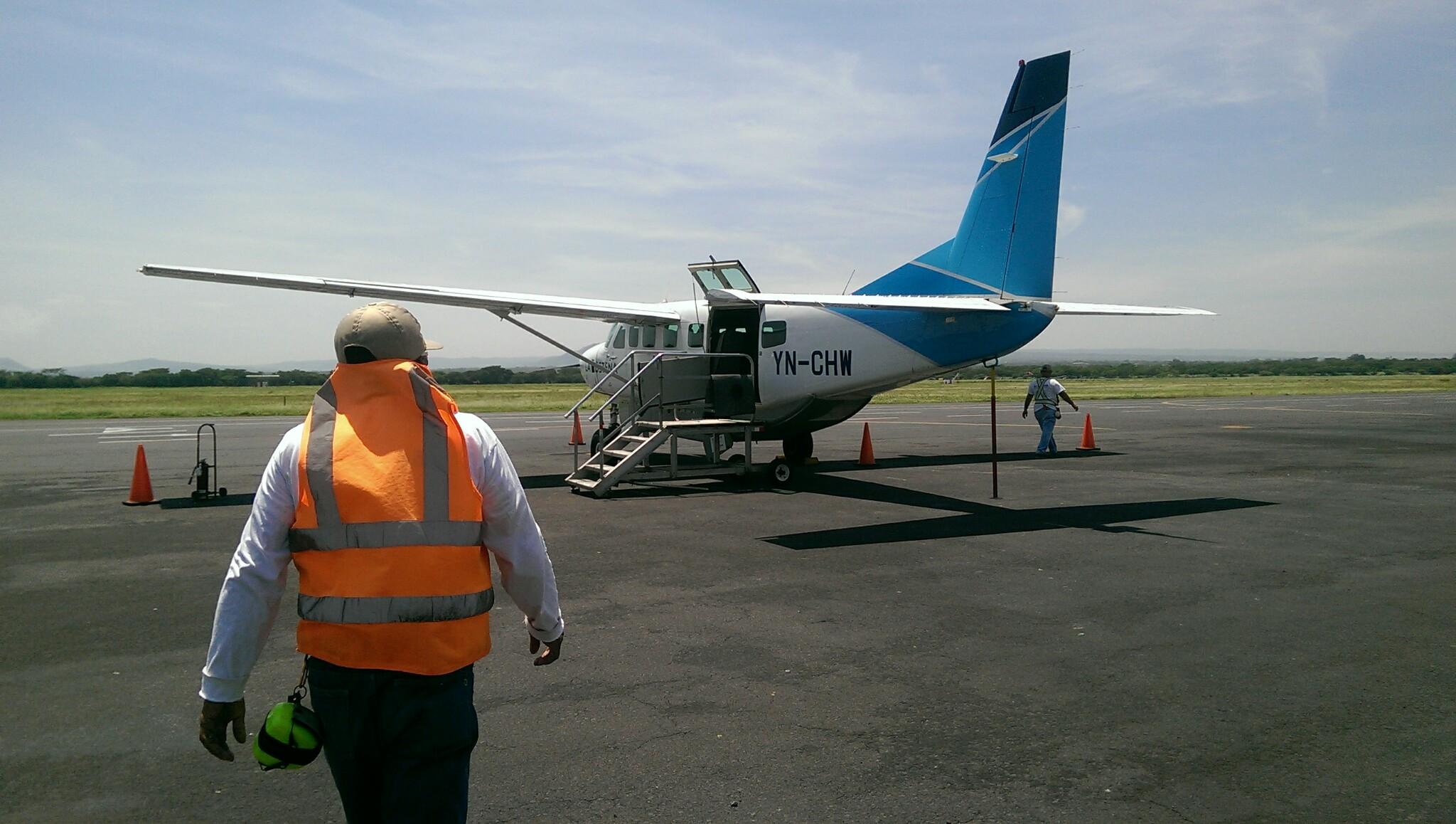Flights to Big Corn Island in the small La Costeña plane