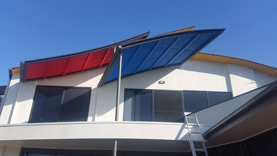 Custom built curved awnings