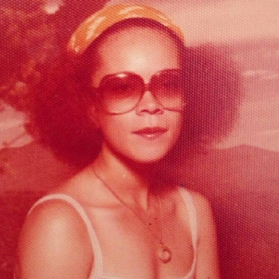 Mom rocking natural hair back in the day, pre-kids :-)