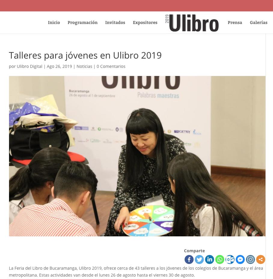 Muy contenta (y un poco asustada) de hacer parte de los invitados a la Feria del Libro de Bucaramanga.