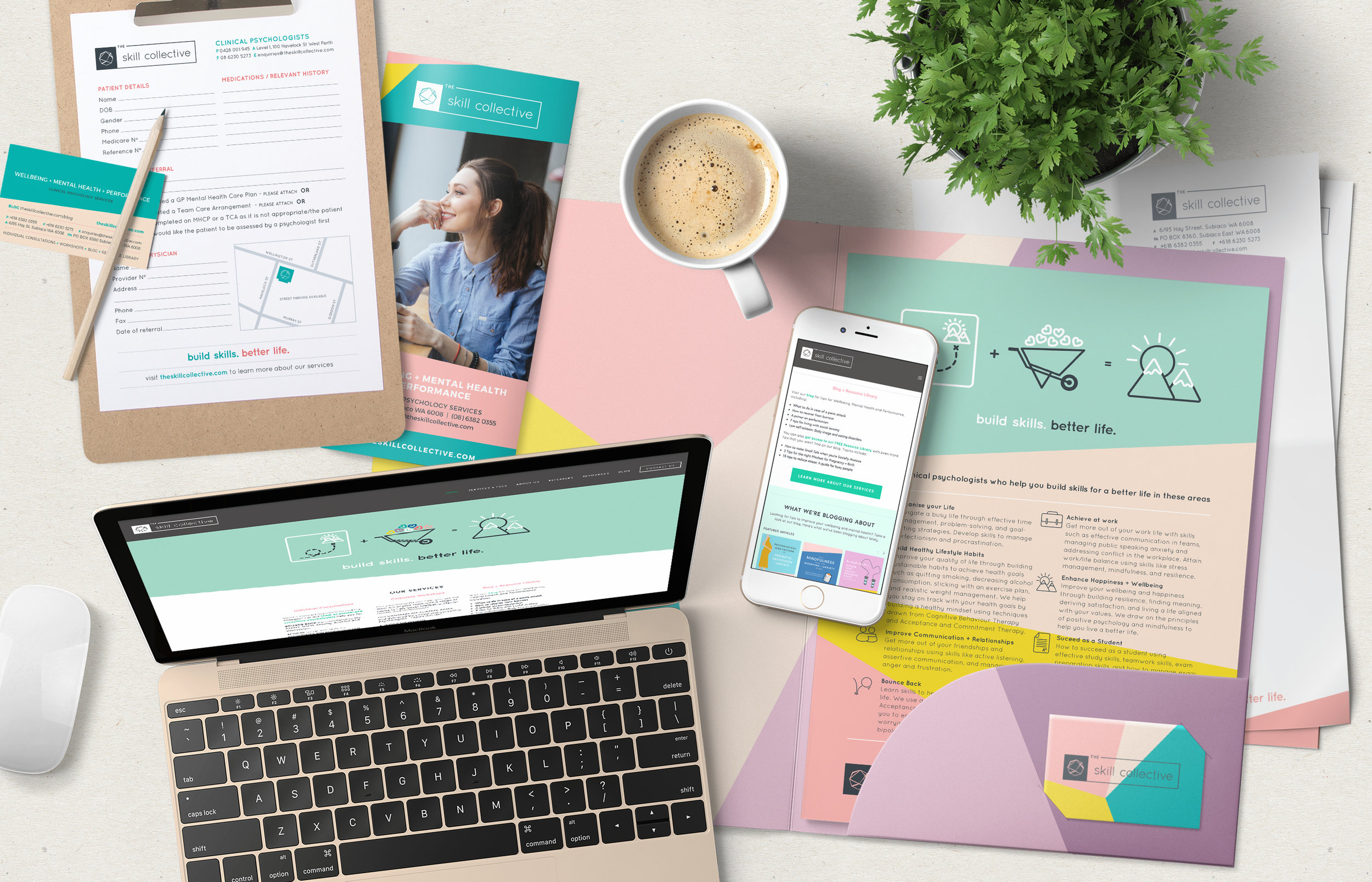 Corporate stationery and website design