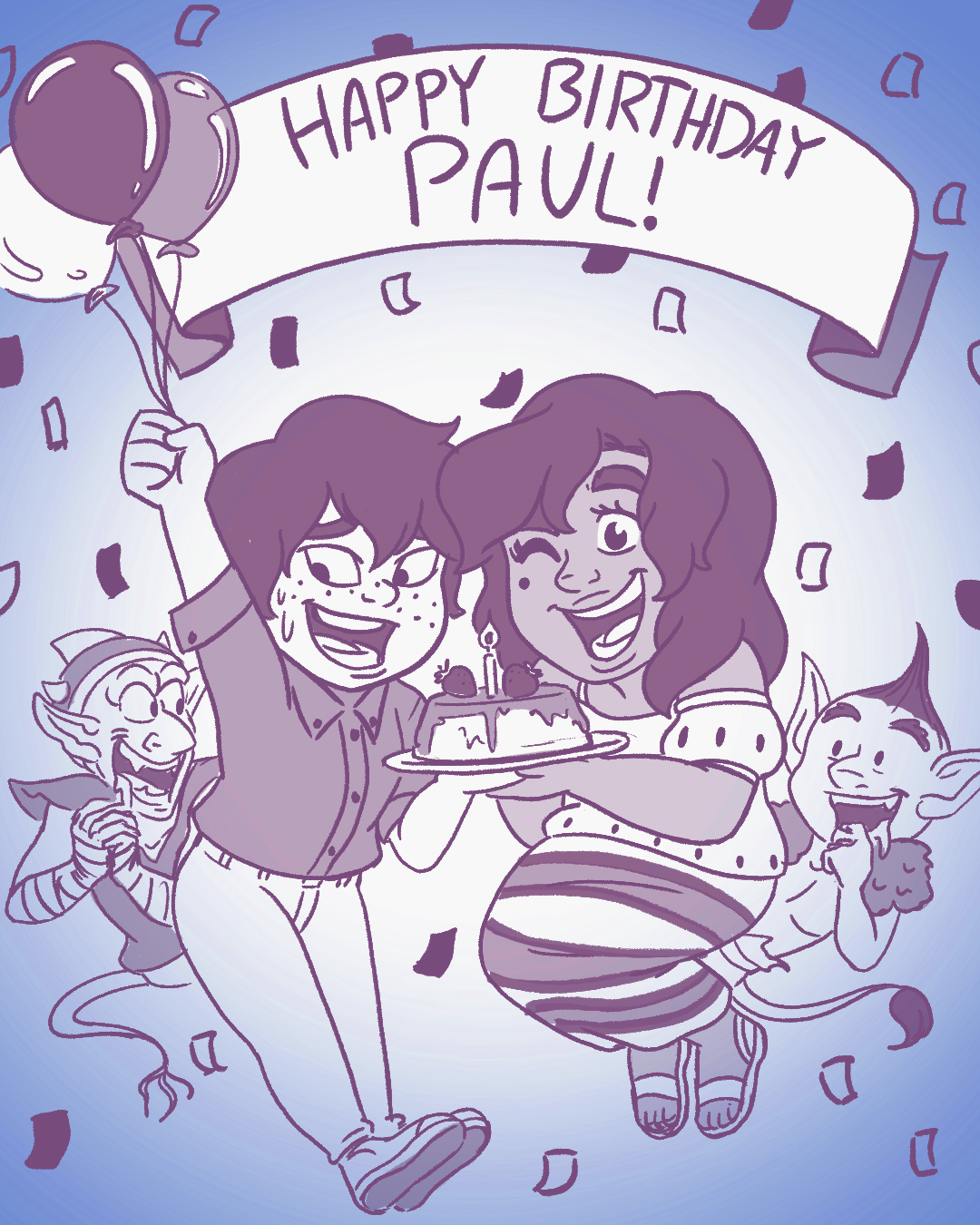 A quick birthday gift for Paul Montgomery, one of the two of the great authors who wrote the book!