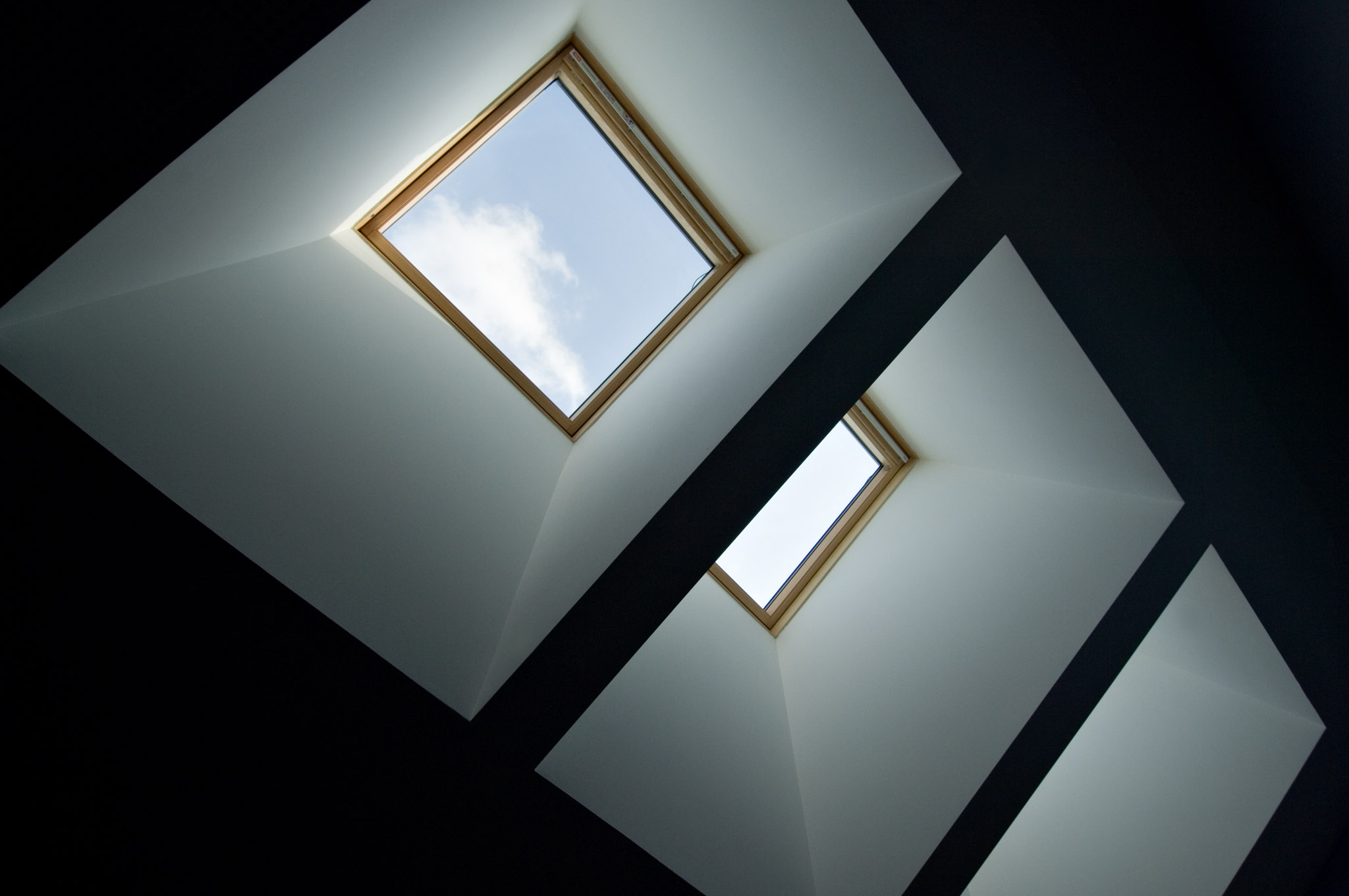 Triple Skylight Abstract 02