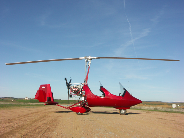 gyrocopter autogiro red