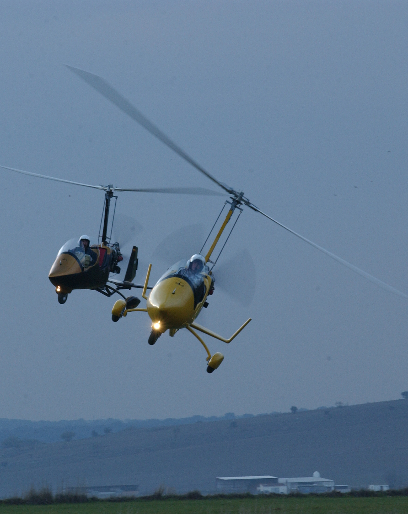 gyrocopter autogiro ela aviacion two of them