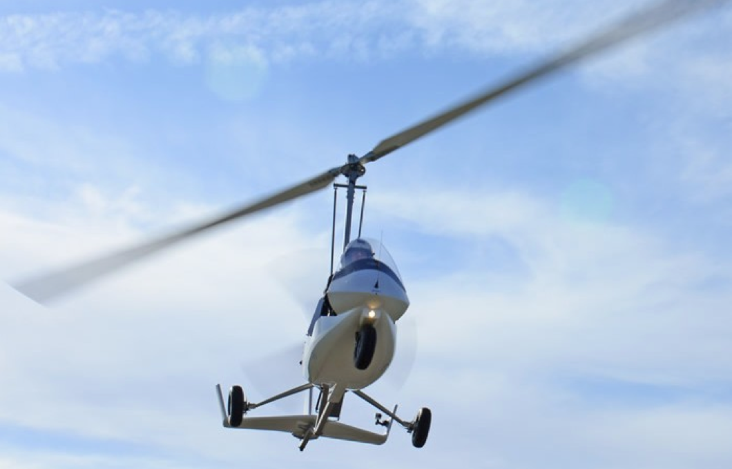 gyrocopter autogiro white rotor