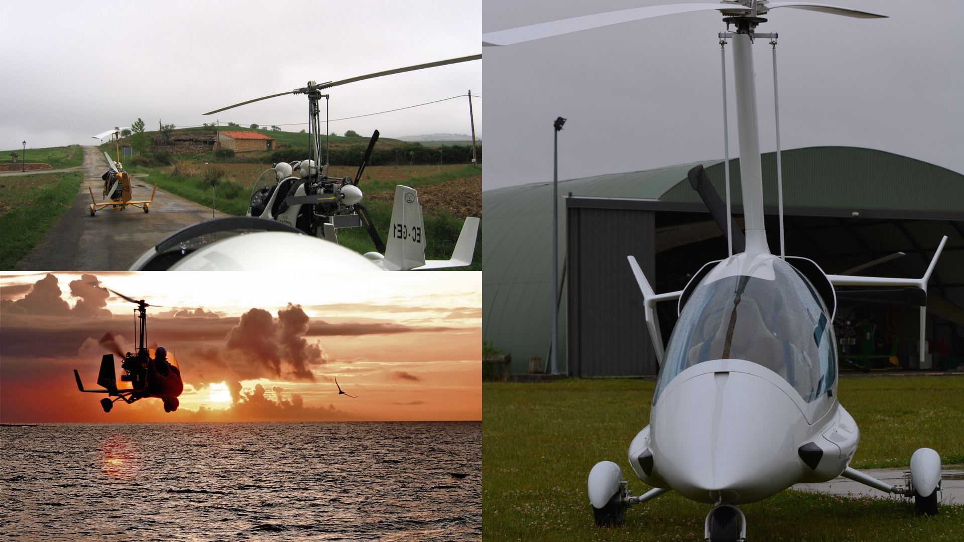 gyrocopter girodynamics ela group-takeoff over sea eclipse