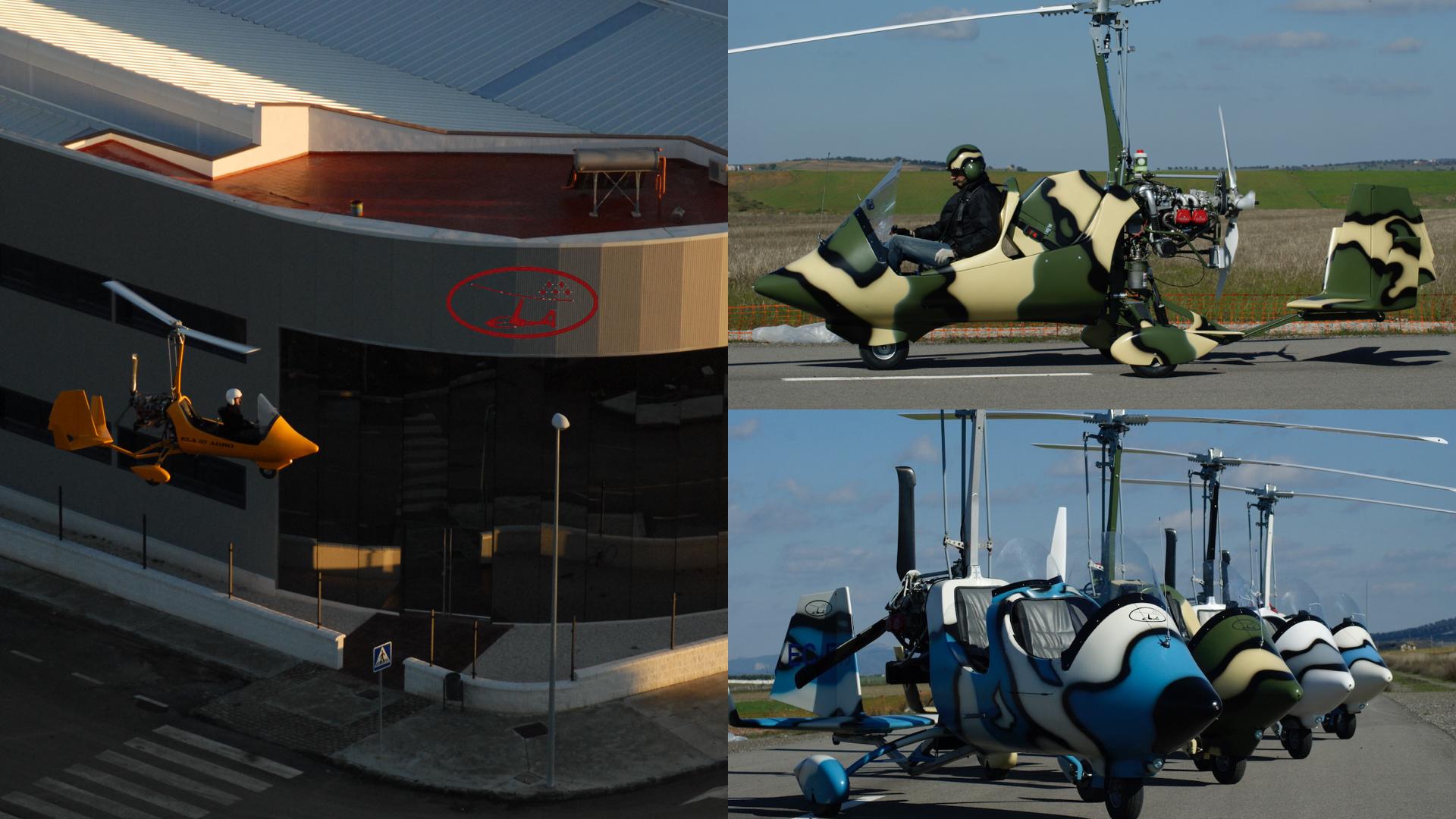 gyrocopter girodynamics ela aviacion factory camouflage