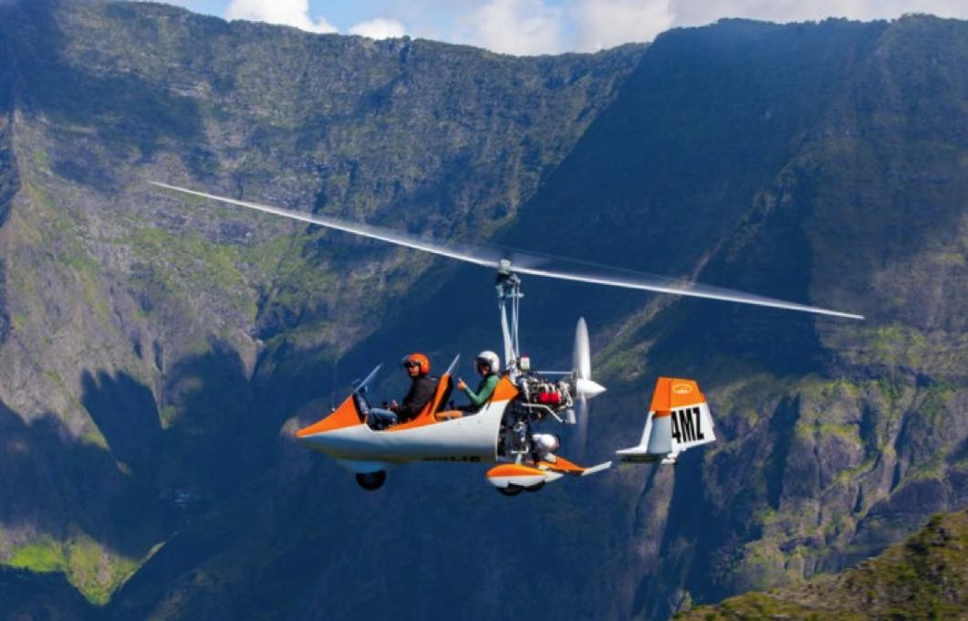 gyrocopter autogiro white orange trip
