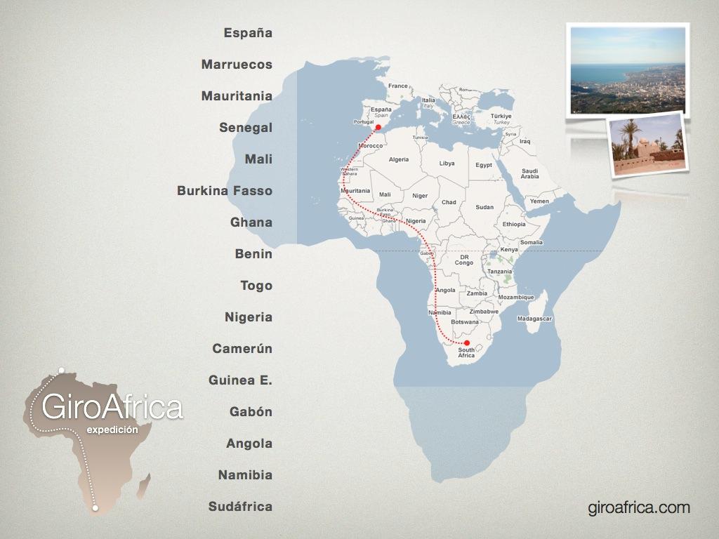 girodynamics giroafrica gyrocopter 2014 route