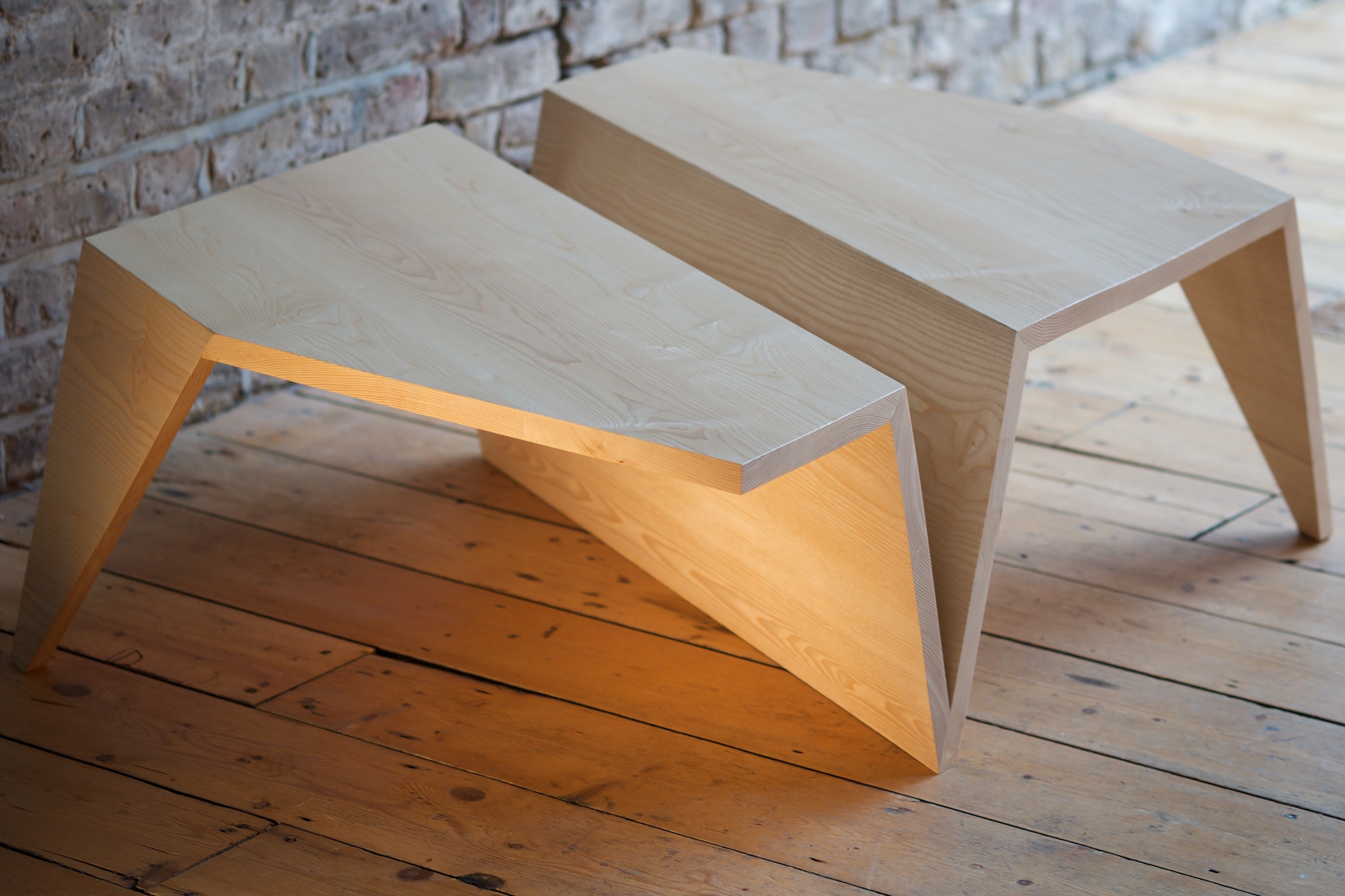 Origami Low Coffee Table in situ