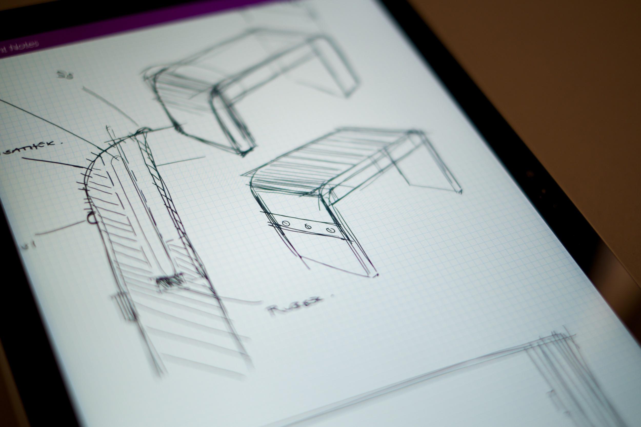 Initial digital design sketches.