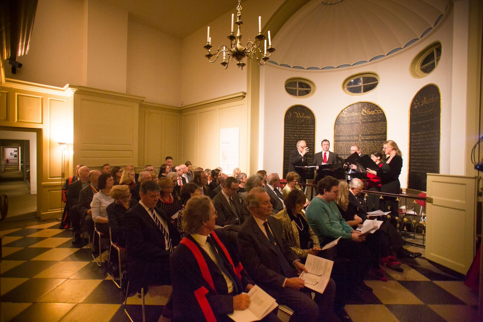 Short service prior to the investiture Ceremony -  Photo Credit Barry Lewis