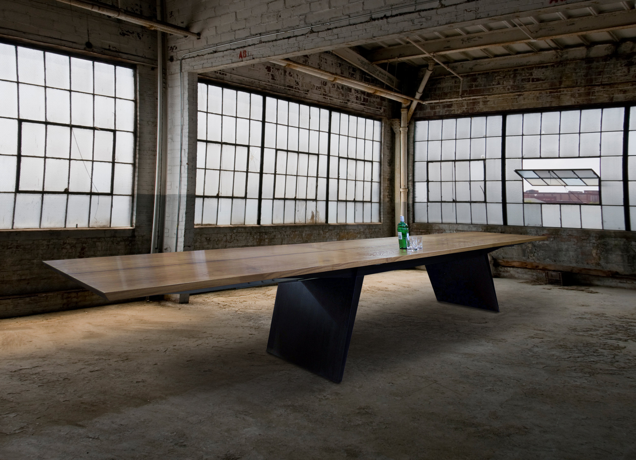The Blade Dining Table - Fully Extended. Seats 20