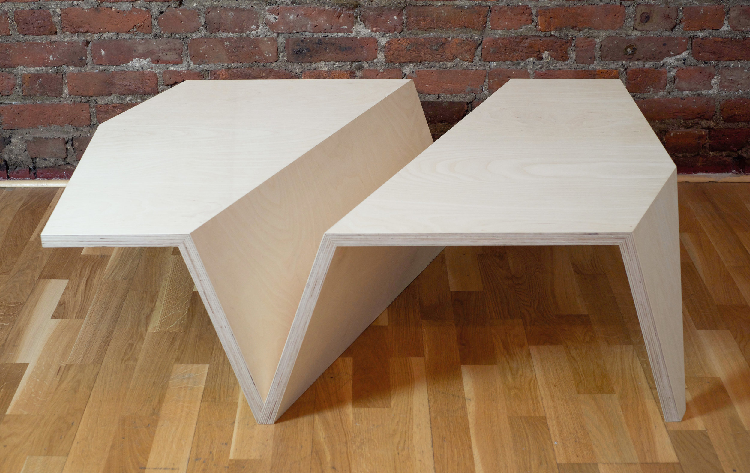 The Origami Low Coffee Table in Beech Ply - Simplicity is the ultimate form of sophistication.