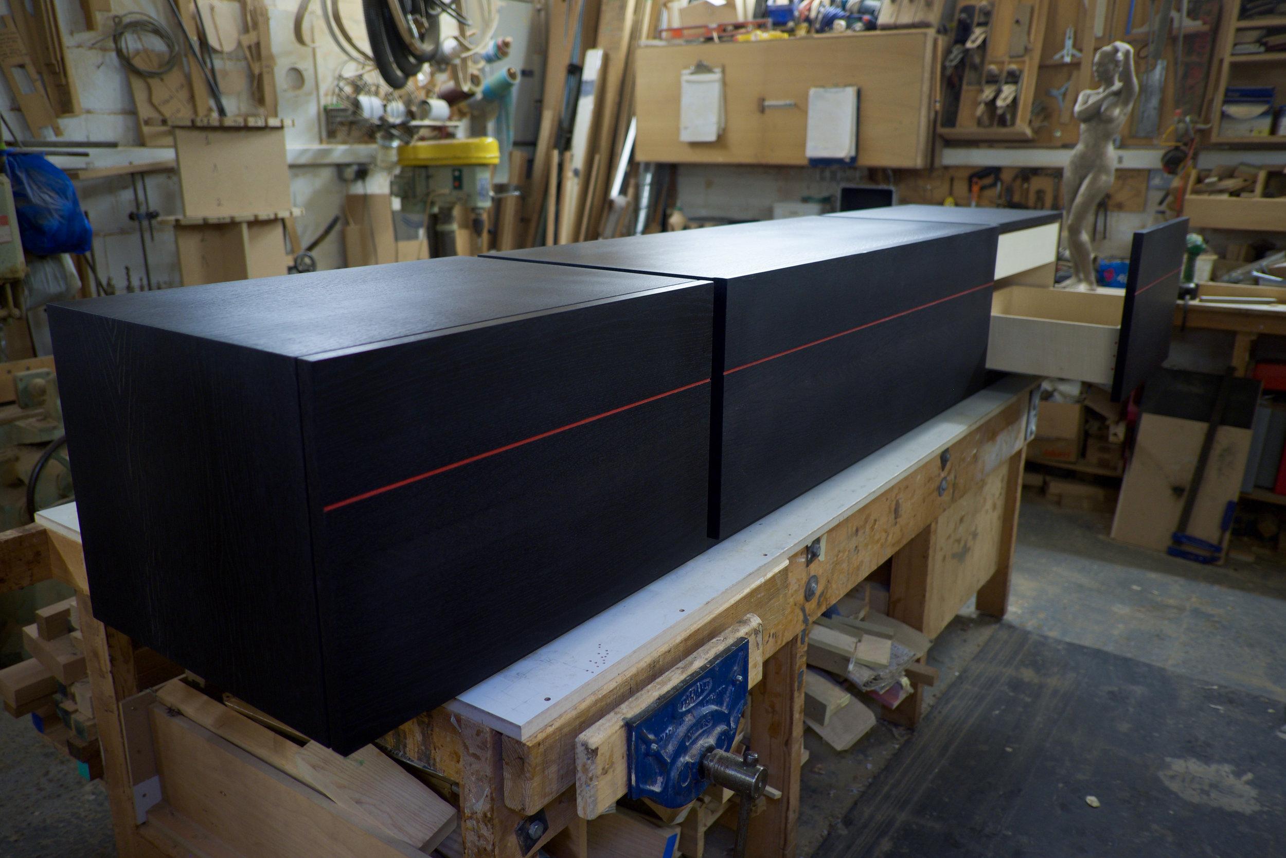 The Basso AV Unit - drawer section open