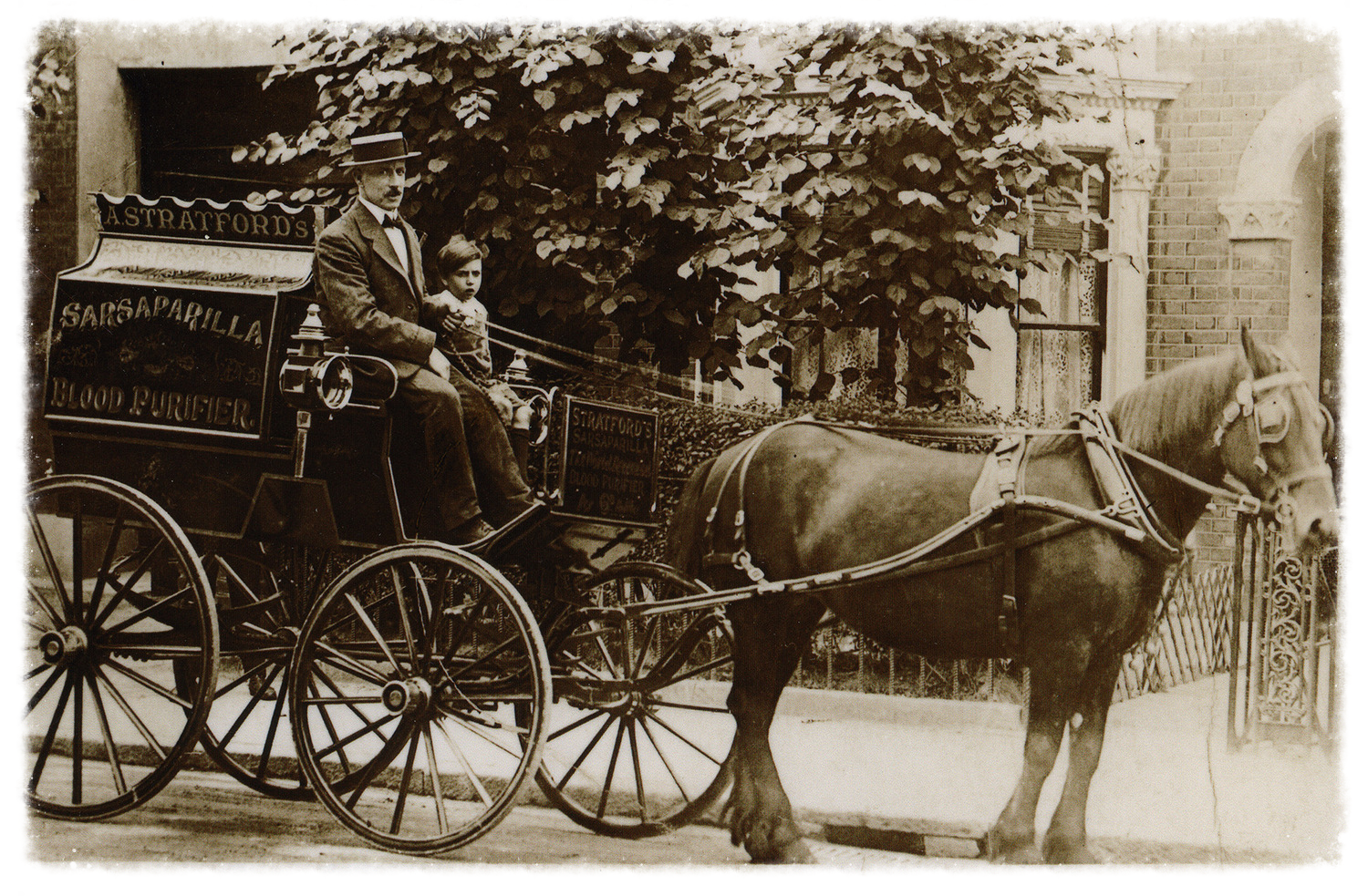 Sarsaparilla delivery horse and cart.
