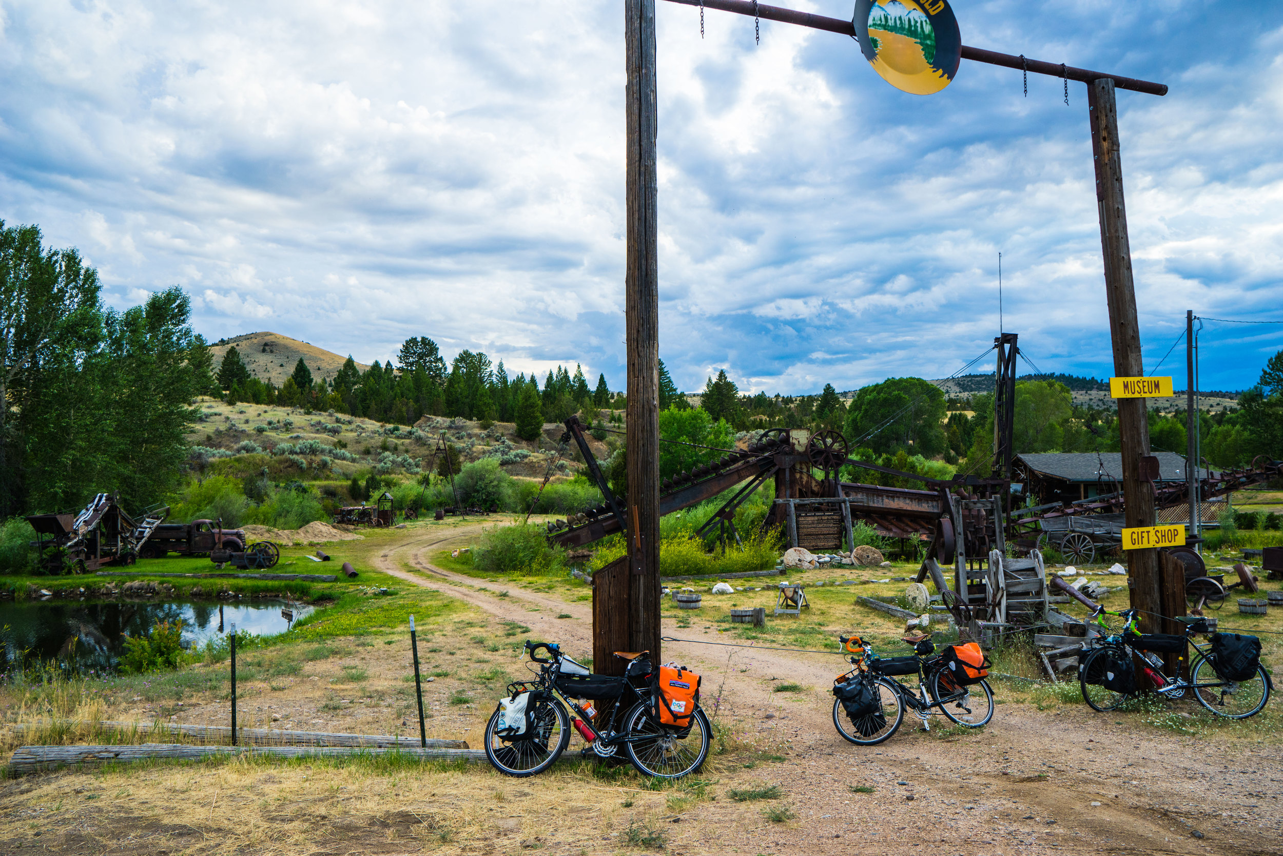 Just at the end of Nevada City, MT. This place is a ghost town in its truest since.