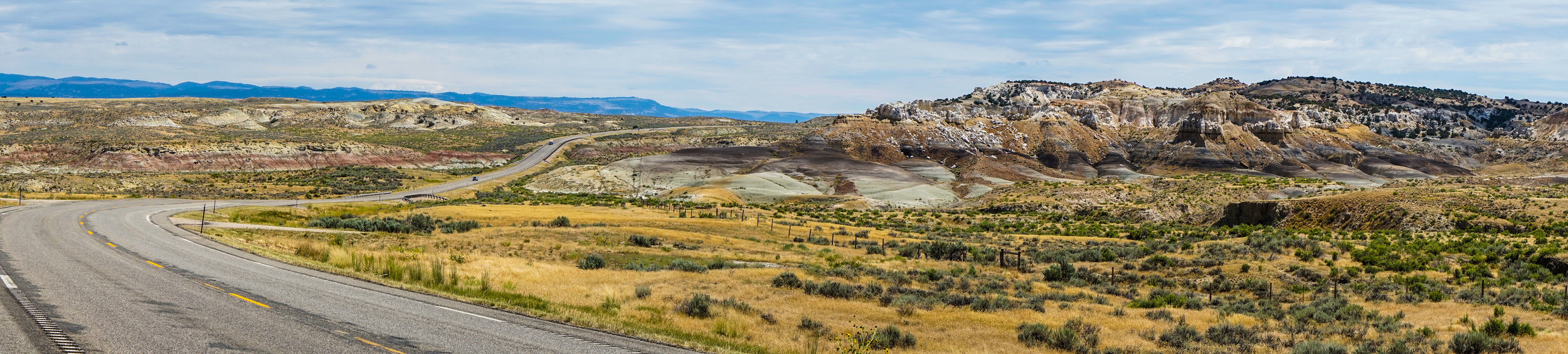 """So much of the Landscape between Shoshone National Forest and the Bighorns looks like this. Some might call it """"desert like"""" but I found it invigorating. The wide open expanses provide views and a feeling of openness one cannot find in a city or New England type of geography."""
