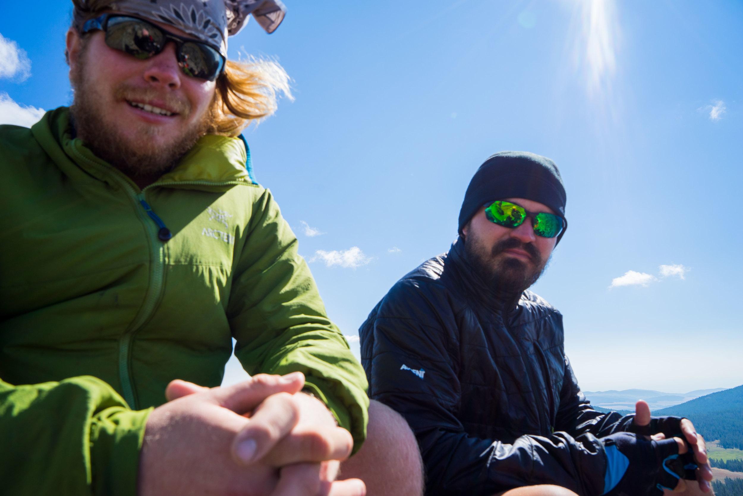 Ryan and Erik enjoying the view after our climb.