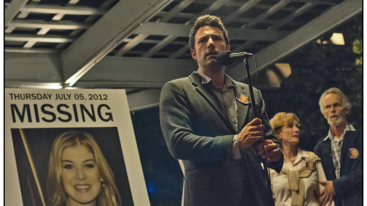 DF-01826cc - Nick Dunne (Ben Affleck) finds himself the chief suspect behind the shocking disappearance of his wife Amy (Rosamund Pike), on their fifth anniversary.